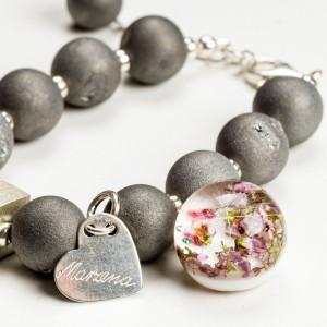 Klasyczne bransoletki damskie z kamieniami naturalnymi.1