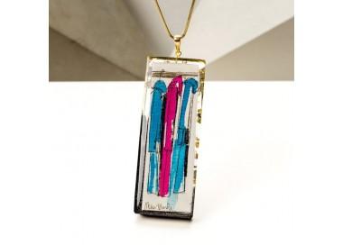 Biżuteria artystyczna z naszyjnikiem dla dziewczyny.