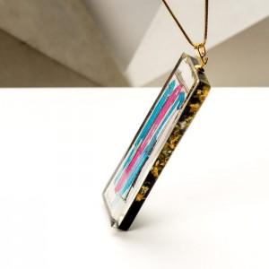 Naszyjnik ręcznie malowany - biżuteria artystyczna na prezent dla dziewczyny 2