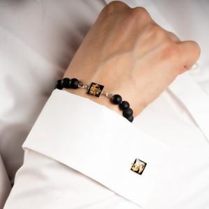 Bransoletka do białej koszuli z kwadratem.1