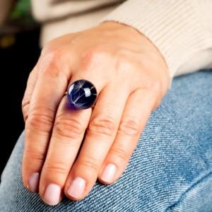 Pierścionek niebieski- idealny do dżinsów. 1