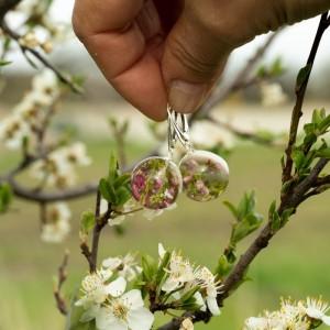 Kolczyki, wiosna w kolczykach z kwiatami. 1