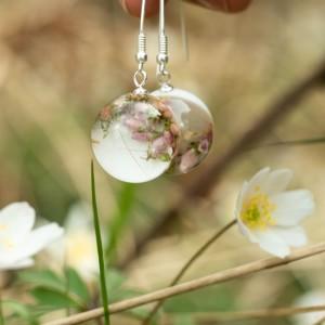 Kolczyki wiosna z kwiatami.1
