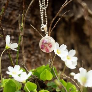 Naszyjnik wiosenny- biżuteria artystyczna.1