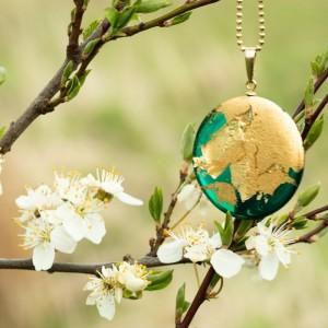 Naszyjnik zielony na wiosnę.1
