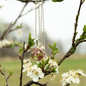 Naszyjnik zielony wiosenny, biżuteria artystyczna.1