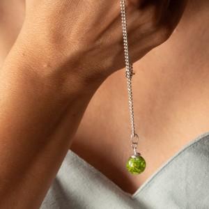 Naszyjnik z naturalnym zielonym mchem.1