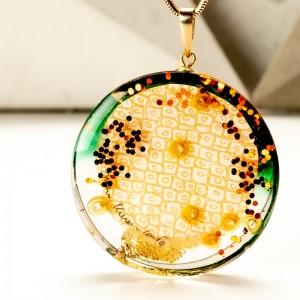 Naszyjnik unikatowy, grafika w biżuterii.