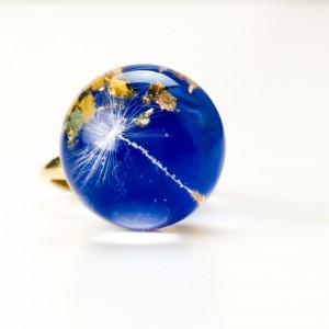 Chabrowe oczko pierścionek z dmuchawcem.1