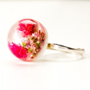 Pierścionek srebrny z kwiatami.1