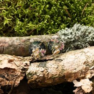 Kolczyki zielone, wiszące wkrętki.1