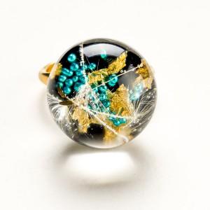 Elegancki komplet komplet biżuterii złoconej.1