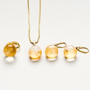 Komplet biżuterii srebro złocone - ślub. 1