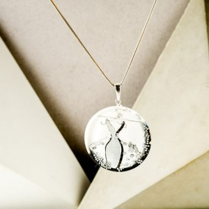 Biżuteria artystyczna srebrna- grafika w biżuterii.