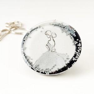 Autorska biżuteria, naszyjniki damskie z grafiką malowaną ręcznie.1