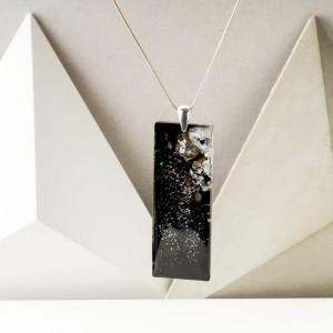 Długi wisiorek srebrny unikalny prezent dla dziewczyny.