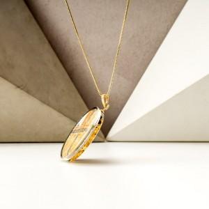 Biżuteria malowana- naszyjnik pozłacany 1