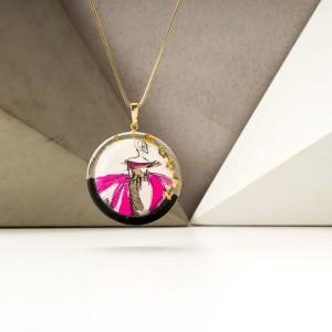 Biżuteria malowana- modne naszyjniki 2