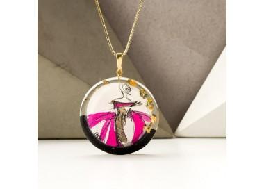 Biżuteria malowana- modne naszyjniki