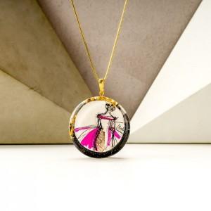 Biżuteria malowana- naszyjnik dla dziewczyny 1