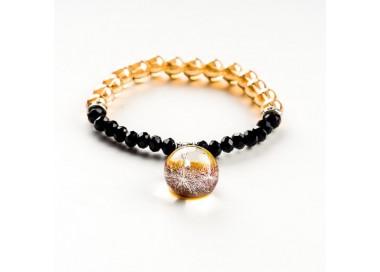 Bransoletka złoto czarna