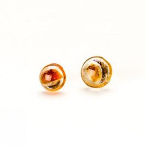 Kolczyki wkrętki z bursztynem  biżuteria artystyczna