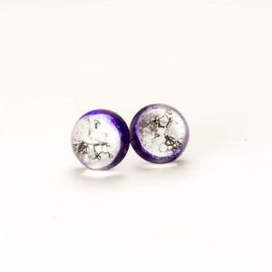 Kolczyki wkrętki fioletowe