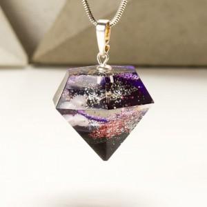Wyjątkowy diament- naszyjnik z sercem.