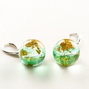 Kolczyki na prezent zielone srebrne kolczyki 1