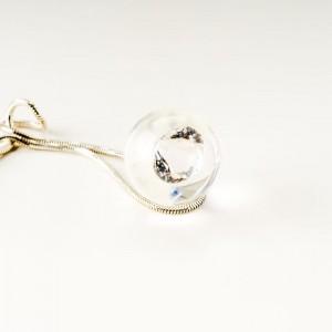 Naszyjnik z cyrkonią srebrny.1