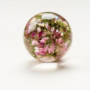 Pierścionki srebrne z kwiatami wrzosu 1