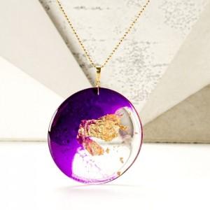 Fioletowy naszyjnik artystyczny