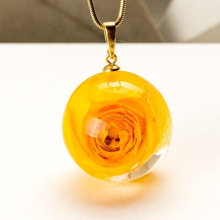 Naszyjnik róża kwiat