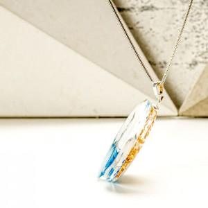 Naszyjnik artystyczny do sukienki turkusowy