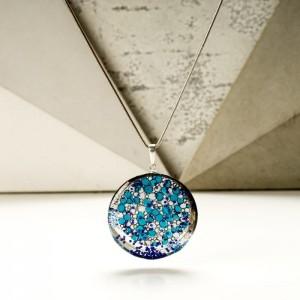 Naszyjnik niebieski artystyczny 2