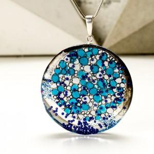 Naszyjnik niebieski artystyczny 1