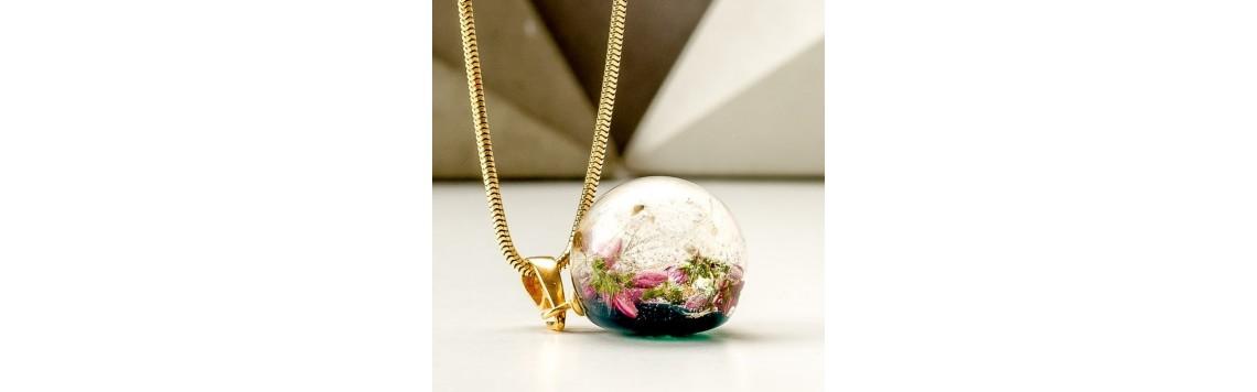 Biżuteria z prawdziwym wrzosem ręcznie robiona od KROLIKOVSKA
